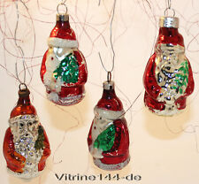 KONVOLUT Christbaumschmuck 4 x Nikolaus Santa Baumbehang Weihnachtsot # 52