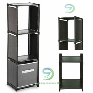 3 Tier Storage Compartment Home Plastic Organiser With Shelving Quality Unit