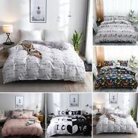 Comforter Print Twin Full Queen King Bed Set Pillowcase/Quilt/Duvet Cover Sets