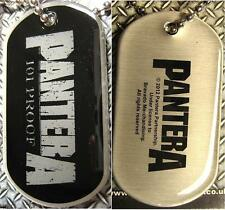"Pantera Dog Tag"" 101 PROOF"" - Necklace-plaque-Collier"