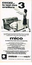 PUBLICITE ADVERTISING 024   1967   MICO    canapé lit convertible