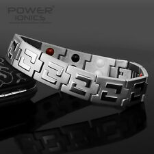 Power Ionics 100% Titanium 4in1 Multifunction Wide Bracelet Balance Wrist Energy