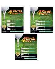 """4 Yards More Tees 3x Four Pack Green 4"""" inch 12 tees total As Seen On TV"""