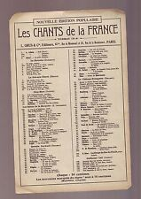 Partition Ancienne - bon etat Les Chants de La france / BENVENUTO -