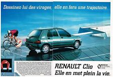 PUBLICITE ADVERTISING 1992   RENAULT  CLIO  (2 pages)   dessinez lui des virages