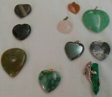 """Assorted drops and focals, manatee on malachite, fluorite """"sand dollar"""""""