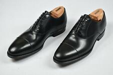 Kiton Men's Black Leather Cap toe Dress Shoes 8 NEW US 9