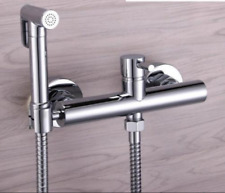 Bathroom Toilet Brass Handheld Bidet Shattaf Sprayer + Hot and Cold Mixer +Hose