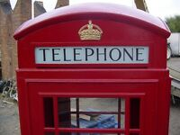 RED TELEPHONE BOX , BOOTH, KIOSK, ORIGINAL K6