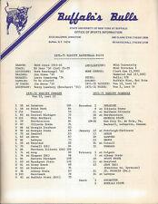 1972-73 Buffalo Bulls Basketball Media Guide HC Ed Muto
