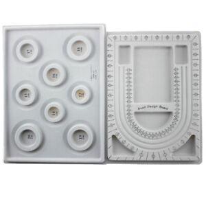 2Pcs Bead Design Board Bracelet Design Board Flocked Bead Board Necklace Beading