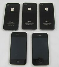 New listing 5 Apple iPhone 4 8Gb At&T Smartphones Lot Wi-Fi w/Home Chrger Good