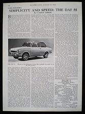 DAF 55 MOTOR CAR 1pp MOTORING REPORT / ARTICLE 1968