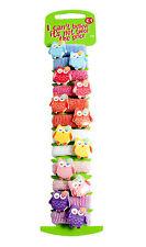 12 * Owl Design Hair Bobbles Bands Mini Baby Ponytail Elastic Stretchy