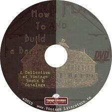 How To Build a Barn { Vintage Books ~ Plans ~ Catalogs ~ Farm Buildings} on DVD