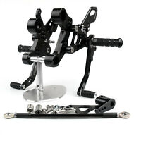 Aluminum Black Rearset Rear Set Footrest Pedal For Yamaha MT-09 FZ-09 2014-16/A5