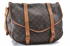 Authentic Louis Vuitton Monogram Saumur 43 Shoulder Bag M42252 LV A8334