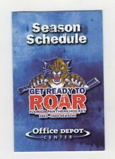 1075d099a54 2003 2004 FLORIDA PANTHERS POCKET SCHEDULE NHL Hockey Office Depot