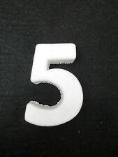 """NUMERO NUMERI CIFRA CIFRE POLISTIROLO DA DECORARE """"5"""""""
