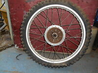 "1976 Maico MC250 MC 250 Vintage AHRMA MX 21"" Akront Front Wheel Rim Hub"