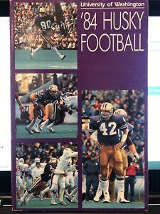 1984 UNIVERSITY of WASHINGTON HUSKIES Football - Media Guide - UW Huskies