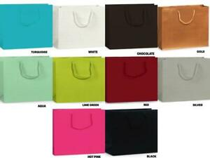 """MEDIUM SIZE Deluxe LAMINATED Matte Gift Bag 13""""x5""""x10"""" Choose Color & Amount"""