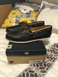 Sperry Top-Sider Men's Gold Cup A/O Boat Shoe Navy Blue Sz US 15 M