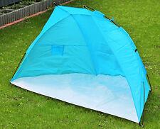 Strandmuschel Strandzelt Sonnenschutzzelt Windschutz Zelt Blau 218x115x115cm Neu