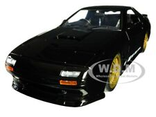 "1985 MAZDA RX-7 (FC) BLACK W/GOLD WHEELS ""JDM TUNERS"" 1/24 DIECAST BY JADA 30425"