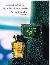 Publicité Advertising 1989 Parfum JCC N°2 Jean Charles de Castelbajac
