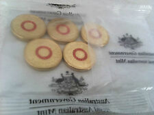 2015 $2 UNC Les We Forget Rememberance Day 5 coins in pack
