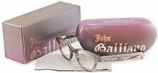 John Galliano Authentic Eyeglasses Frame JG5018 064 Plastic Gray Newspaper Italy
