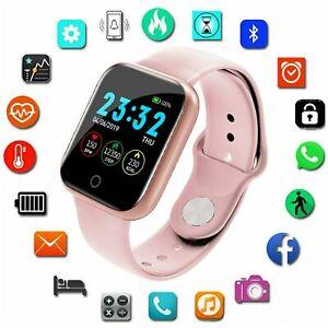 Women Men Bluetooth Smart Watch Heart Rate Fitness Wristband For iPhone Samsung