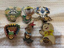 Hard Rock Cafe Pin Lot of 6 Animal Pins - Cancun - Boston - Osaka and More