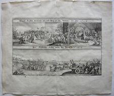 Hendrik van den Bergh Nassau Einfall Veluwe 1624 Orig Kupferstich Merian 1635
