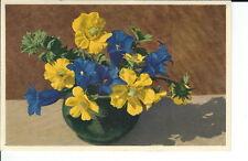 AT-051 Creeping Avens, Gentiane Floral Botanical Postcard Vintage 1915-1930