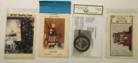 VINTAGE LOT OF 4 AMERICAN Tole Painting PATTERNS COUNTRY FOLK ART USA Uncle Sam
