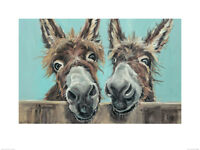 Louise Brown Wooden Wall Art Double Trouble 20x20x3cm