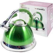 Prima 3.5L Lightweight Stainless Steel Whistling Kettle Camping Fishing Cordless