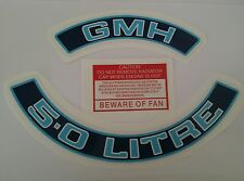 GMH 5.0 LITRE Holden HZ WB VH V8 Engine Decals