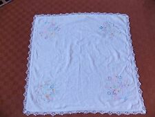 vintage embroidery and lace tablecloth