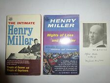 Henry Miller NIGHTS OF LOVE AND LAUGHTER Signed & Intimate Henry Miller,1st 246