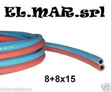 Tubo Binato 8 + 8 x 15 Ossigeno Acetilene tubo doppio cannello saldatura