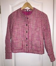 NWT $150 BROOKS BROTHERS Pink Tweed Coat Formal JACKET Blazer Youth GIRL'S L 14