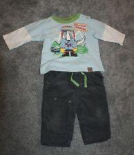 Bebé niños edad 3-6 meses Set Camiseta Pantalones Algodón Marks and Spencer M&S usado