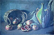 Listed Artist Jesus Villar  X-Large Still Life Oil Painting on Canvas, Unframed