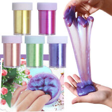 Kids Multi-Use Shinny Slime Powder Squeezer Toy Kit Glitter Clay Playdough Craft