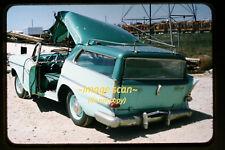 1950's Wrecked Nash Rambler Station Wagon Car, Original photo Slide a6b
