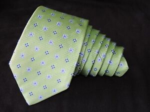 """Brooks Brothers MEN'S TIE GREEN, BLUE/FLORAL 3.25"""" 58"""""""