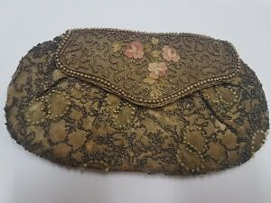 Door Monnaie Pouch Antique Embroidery And Pearl IN Condition - REF35552